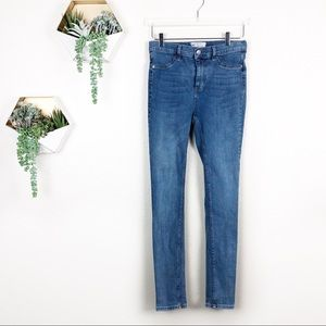 Free people high rise skinny jeans light blue wash